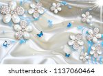 3d wallpaper design with... | Shutterstock . vector #1137060464