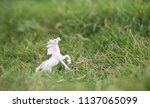 unicorn. a closed up of a... | Shutterstock . vector #1137065099