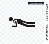 push ups vector icon isolated...   Shutterstock .eps vector #1137069605