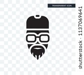 rapper vector icon isolated on... | Shutterstock .eps vector #1137069641