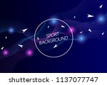 sport background. modern sport... | Shutterstock .eps vector #1137077747