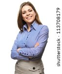 Smiling Business Woman With...