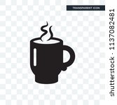 hot cup of coffee vector icon... | Shutterstock .eps vector #1137082481