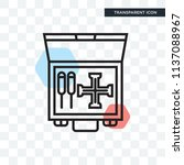 toolbox vector icon isolated on ... | Shutterstock .eps vector #1137088967