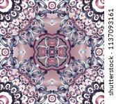 openwork pattern in various... | Shutterstock .eps vector #1137093161