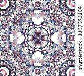 openwork pattern in various... | Shutterstock .eps vector #1137093164