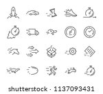 simple set of vector line icon  ... | Shutterstock .eps vector #1137093431