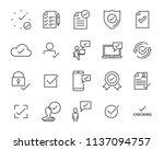 set of checkmark vector line... | Shutterstock .eps vector #1137094757