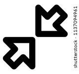 inward two arrows symbol of... | Shutterstock .eps vector #1137094961