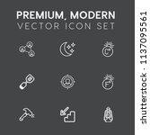 modern  simple vector icon set...   Shutterstock .eps vector #1137095561