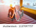 construction worker wearing... | Shutterstock . vector #1137097757