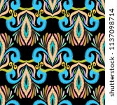 ethnic embroidery colorful...   Shutterstock .eps vector #1137098714