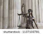 the statue of justice themis or ... | Shutterstock . vector #1137103781