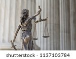 the statue of justice themis or ... | Shutterstock . vector #1137103784