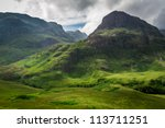 summer in in the scotland... | Shutterstock . vector #113711251