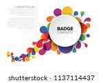 colorful creative badge   tag... | Shutterstock .eps vector #1137114437