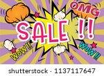 sale banner.big sale special... | Shutterstock .eps vector #1137117647