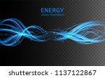 electric lighting transparent... | Shutterstock .eps vector #1137122867