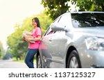 online seller business woman...   Shutterstock . vector #1137125327