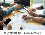 startup business people group... | Shutterstock . vector #1137129197