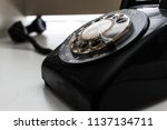 vintage rotary phone | Shutterstock . vector #1137134711