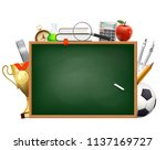 back to school. background with ... | Shutterstock .eps vector #1137169727