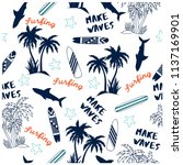 summer seamless pattern design... | Shutterstock .eps vector #1137169901