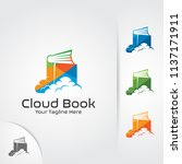 cloud book logo for online... | Shutterstock .eps vector #1137171911