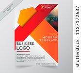 business annual report brochure ... | Shutterstock .eps vector #1137172637