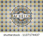 bachelor arabesque style emblem....   Shutterstock .eps vector #1137174437