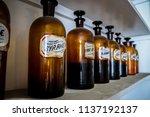 vintage apothecary interior... | Shutterstock . vector #1137192137