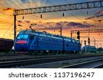 trains and wagons  railroad... | Shutterstock . vector #1137196247