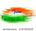 indian independence day design... | Shutterstock .eps vector #1137201035