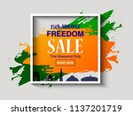 indian independence day sale... | Shutterstock .eps vector #1137201719