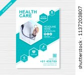 health care cover template... | Shutterstock .eps vector #1137203807
