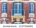 facade of colorful houses in... | Shutterstock . vector #1137206081