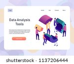 data analysis landing page... | Shutterstock .eps vector #1137206444