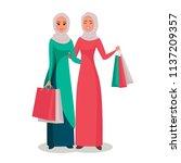 cartoon arab women character...   Shutterstock .eps vector #1137209357