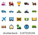 colored vector icon set  ...   Shutterstock .eps vector #1137210134