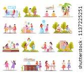 girls friendship orthogonal... | Shutterstock .eps vector #1137225251