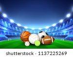 balls for different team sport... | Shutterstock .eps vector #1137225269
