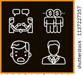 set of 4 people outline icons... | Shutterstock . vector #1137227357