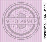 scholarship pink emblem. retro | Shutterstock .eps vector #1137235721
