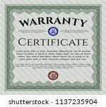 green vintage warranty... | Shutterstock .eps vector #1137235904