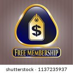 gold shiny emblem with money... | Shutterstock .eps vector #1137235937