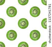 vector illustration of slices... | Shutterstock .eps vector #1137241781