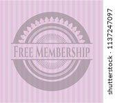free membership pink emblem.... | Shutterstock .eps vector #1137247097