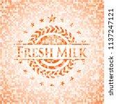fresh milk abstract emblem ... | Shutterstock .eps vector #1137247121