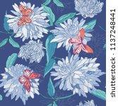 seamless pattern of blue... | Shutterstock .eps vector #1137248441