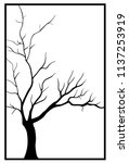 tree silhouettes without leaves | Shutterstock .eps vector #1137253919